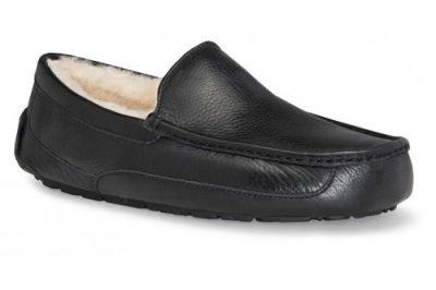 Ascot Black Leather Slipper