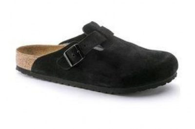 Boston Soft Footbed Clog Black Suede