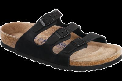 Florida Soft Footbed Black Oiled Leather
