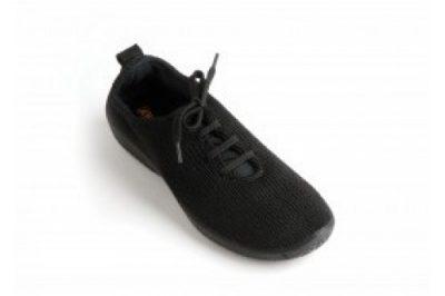 LS Shocks Lace-Up Black Knit