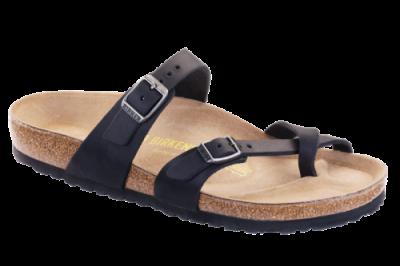 Mayari Classic Footbed Black Oiled Leather