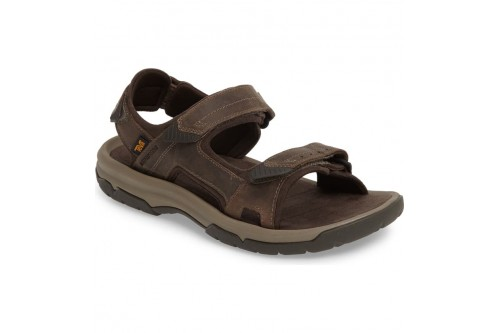 Langdon Active Sandal Walnut Leather