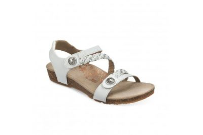 Jillian Braided Quarter Strap Sandal White Leather