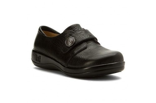 Joleen Shoe Black Tooled Leather