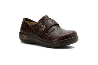 Joleen Shoe Molasses Tooled Leather