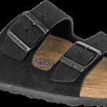 Arizona Soft Footbed Black Suede