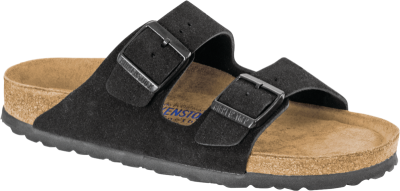 Arizona Soft Footbed Black Suede