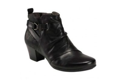Calgary Halifax Bootie Black Leather