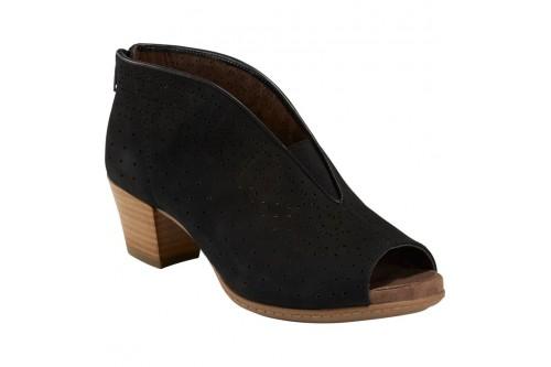 Quebec Sandal Black Leather