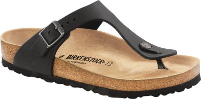 Gizeh Classic Footbed Black Oiled Leather