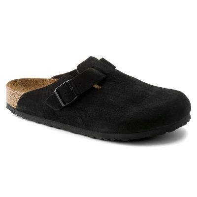 Boston Soft Footbed Clog Black Suede