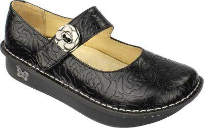 Paloma Black Embossed Leather