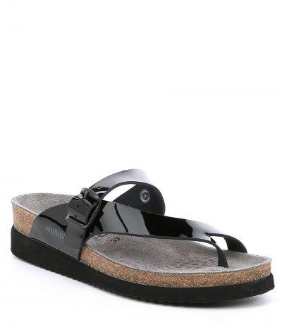 Helen Black Patent Leather Sandal