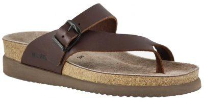 Helen Chestnut Leather Sandal