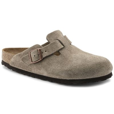 Boston Soft Footbed Clog Taupe Suede