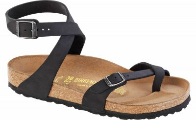 Yara Classic Footbed Black Oiled Leather