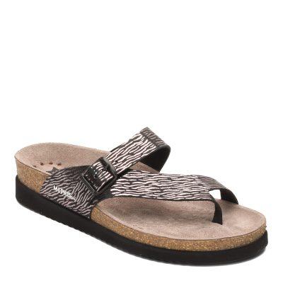 Helen Black Zebra Leather Sandal