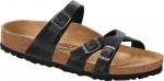 Franca Classic Footbed Black Oiled Leather