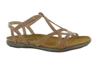 Dorith Latte Brown Leather Sandal