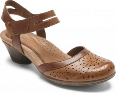 Rockport-Cobb Hill Laurel Mary Jane Tan Leather
