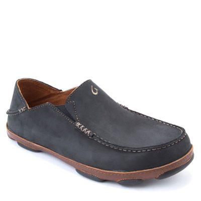 Moloa Black Leather Slipper