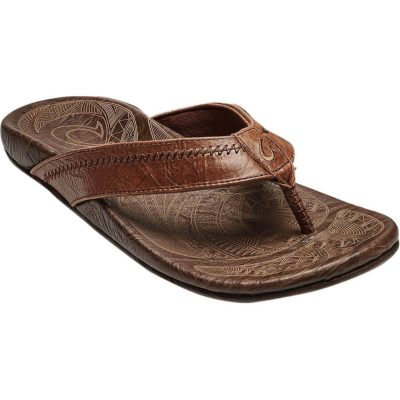 Hiapo Leather Rum Sandal